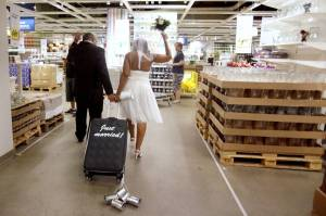 Just Married at IKEA