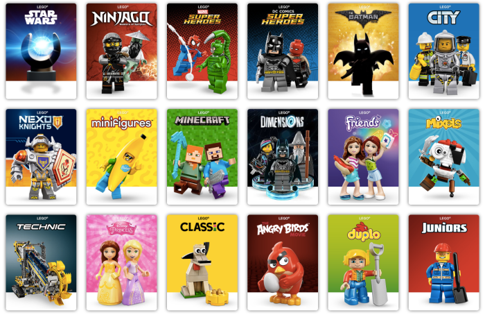 Lego Products Page